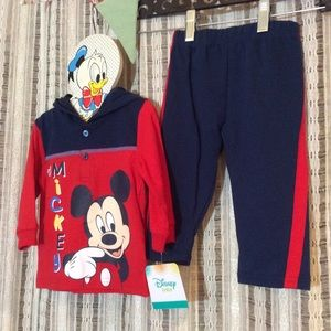 Disney Baby Mickey Mouse Matching Outfit Set 6-9